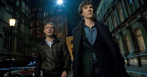 Martin Freeman Benedict Cumberbatch Sherlock photo