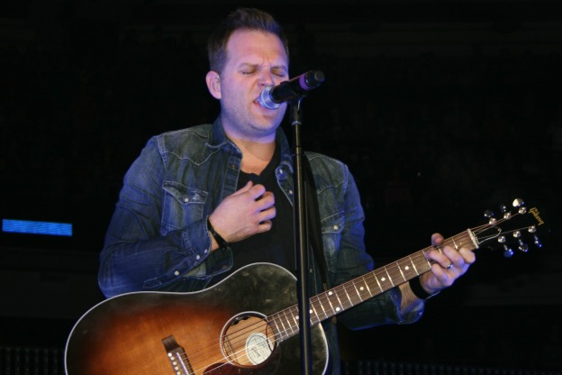 Matthew West on stage at Winter Jam photo/ Brandon Jones
