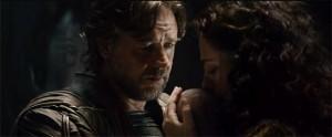 Russell Crowe Jor-El baby Superman photo