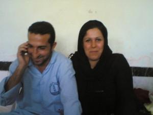 Youcef Nadarkhani and His Wife Fatemah Pasindedah