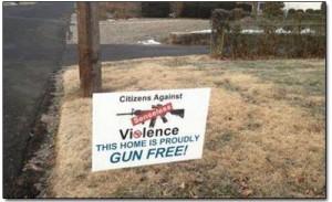 gun free home sign Citizens against guns OKeefe video