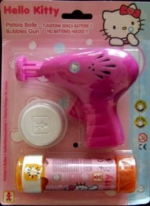 hello kitty bubble blowing gun