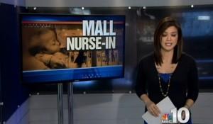 mall breastfeeding sitin protest lactivists