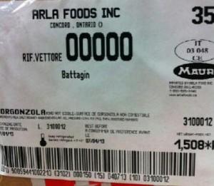 Mauri brand Gorgonzola cheese Image/CFIA