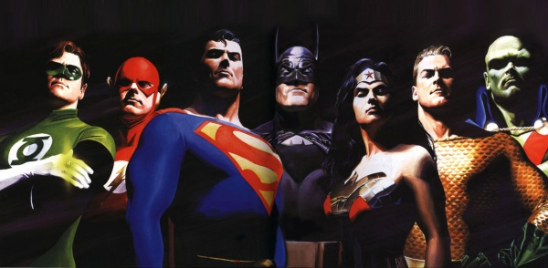 Alex Ross Justice League team photo