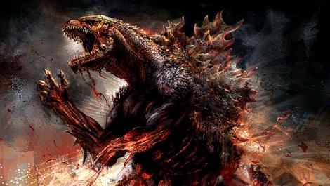 Godzilla banner artwork
