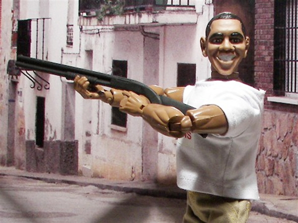 Herobuilders Obama skeet shooting