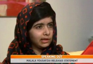 Malala Yousafzai  speaks out