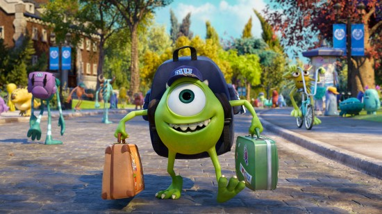 Mike goes to college Monsters University