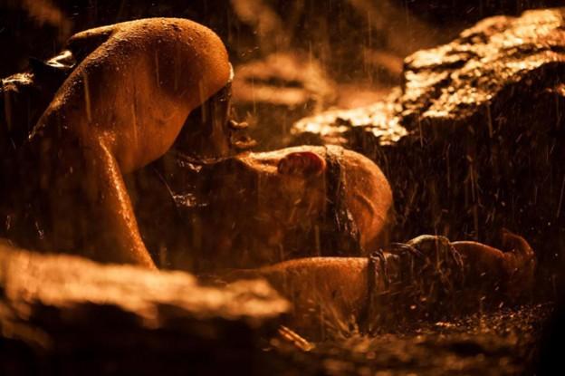 Riddick face down rain Vin diesel photo
