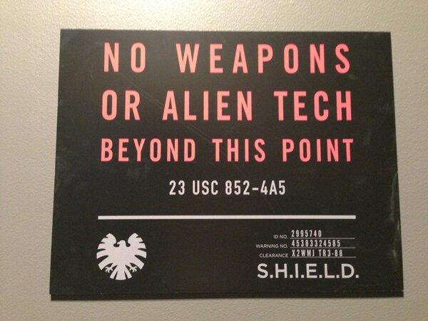 SHIELD weapons warning twitter photo