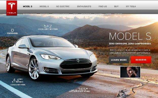 Tesla S model electric car