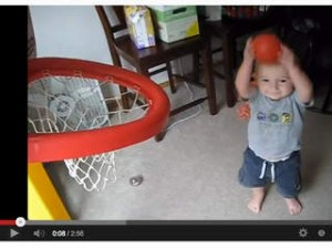 Titus Ashby viral video trick basketball shots