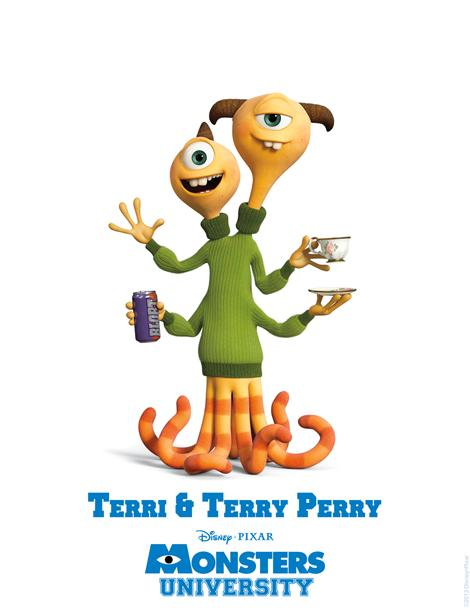terri Terry Perry Monsters University poster