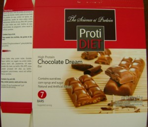 Proti Diet High Protein Chocolate Dream Bar Image/CFIA