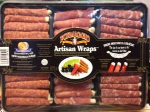 Formaggio brand Artisan Wraps Italian Style Meats around Fresh Mozzarella  Image/CFIA