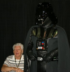 David Prowe (seated) was in the Darth Vader suit as the character was voiced by James Earl Jones.