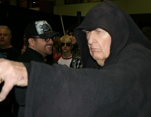 An inspired fan plays out the role of Palpatine with this great Star Wars cosplay photo/ Brandon Jones