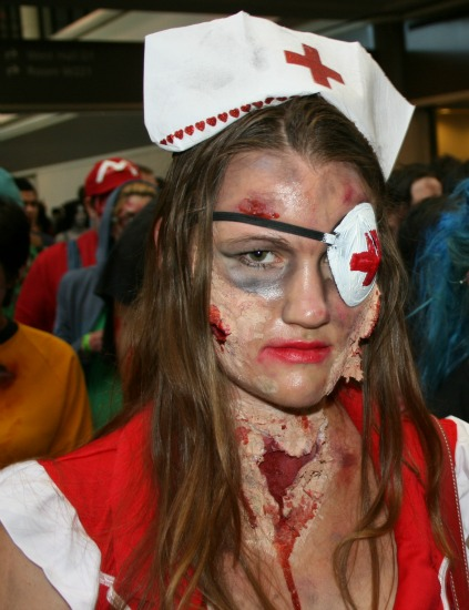 Eyepatch Nurse Zombie Cosplay MegaCon 2013