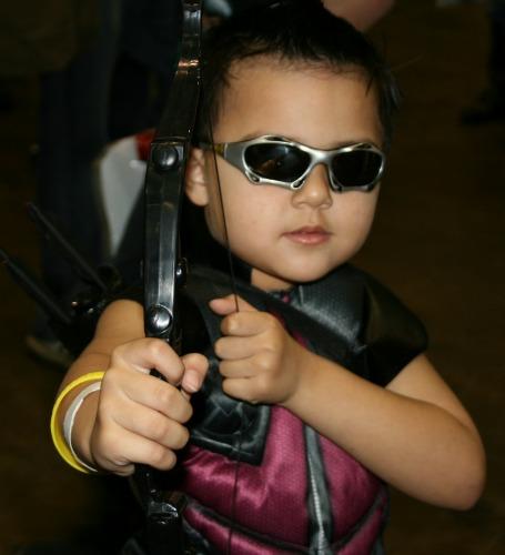 Hawkeye Cosplay child MegaCon 2013