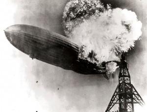 Hindenburg_burning 1937 disaster photo