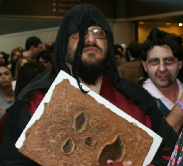Hooded guy with Book of Dead MegaCon 2012