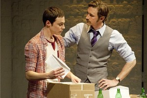 """Jim Parsons as Tommy Boatwright in Broadway version of """"The Normal Heart"""""""