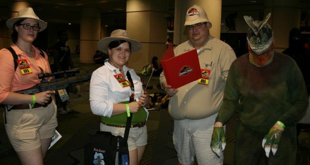 Jurassic Park Cosplay  MegaCon 2013 Ninja photobomb