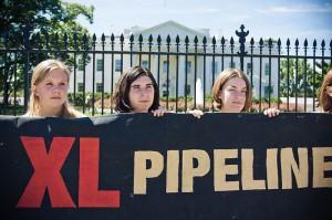 Keystone XL demonstration, White House,8-23-2011  photo Josh Lopez