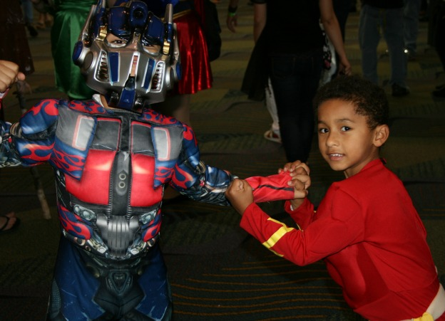 Kids Cosplay  MegaCon 2013 Optimus Prime Transformers Flash