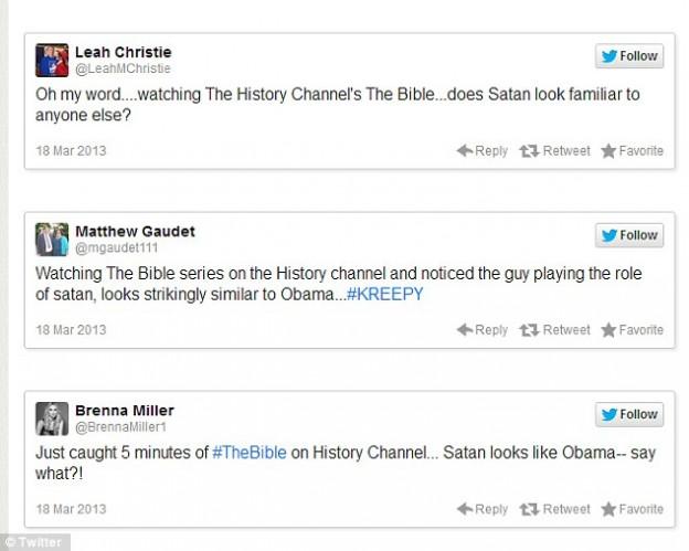 Twitter Obama The Bible Satan tweets