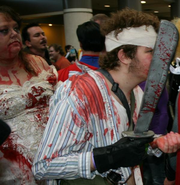 Zombie victim machete Cosplay MegaCon 2013