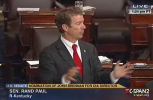 Rand Paul filibuster Image/Video Screen Shot