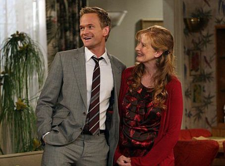 Barney and mother Francis Conroy How I Met Your Mother photo