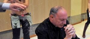 Belgian Archbishop Andre-Joseph Leonard  under attack from FEMEN