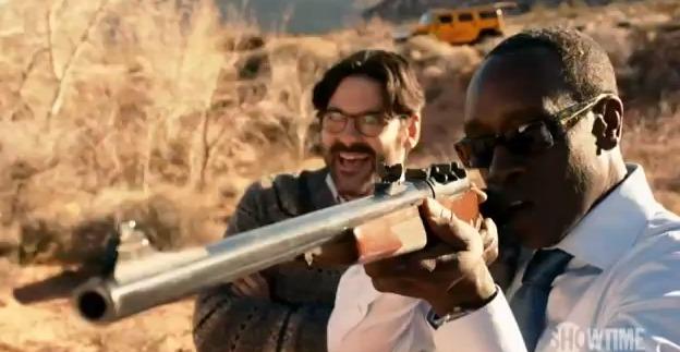 Don Cheadle House of Lies season 3 photo with rifle