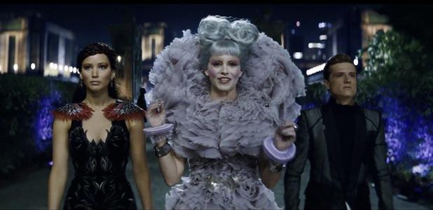 Elizabeth Banks as Effie Josh Hutcherson as Peeta Hunger Games Catching fire