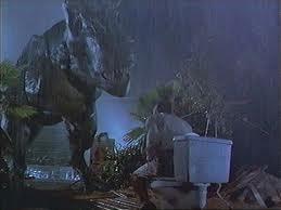 Lawyer toilet Jurassic Park T REx photo