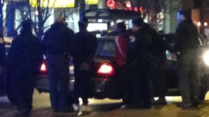 """Two of the three adults arrested during the """"Mag Mile Melee"""" this weekend photo screenshot WGN coverage"""