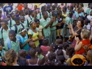 Nebraska church hands out supplies in Haiti after the earthquake, screenshot video coverage