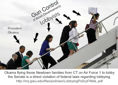 Newtown Lobbyists  parents enter Air Force One
