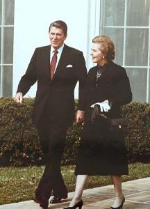 Margaret Thatcher with Ronald Reagan 1981 photo public domain White House photo