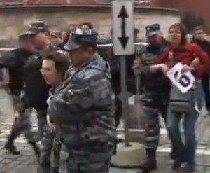 Russian protesters arrested during anti-Putin rally