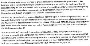 School writing assignment Nazi Jews  cropped