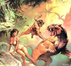 Tarzan by Boris Vallejo   http://www.imaginistix.com/