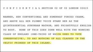 Wikileaks document Margaret thatcher