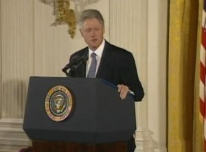 President Bill Clinton Presidential Apology - USPHS Syphilis Study at Tuskegee Image/Video Screen Shot