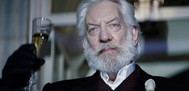 donald sutherland toast Hunger Games Catching Fire