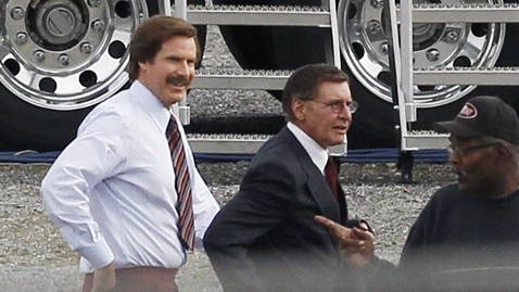 harrison_ford_will_ferrell_anchorman_2 set photo