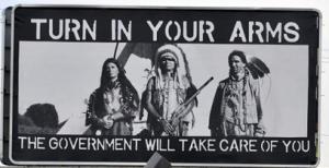 native american indians gun control government billboard c